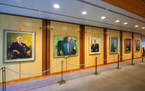The gallery of portraits of past prime ministers