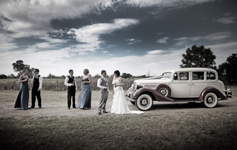 The Bridal Party and the Buick