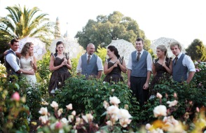 Wedding in the Benalla Gardens