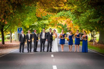 Autumn wedding in Bright