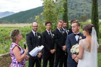 Wedding Ceremony at Feathertop Winery