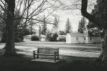 A park bench in Hanmer Springs