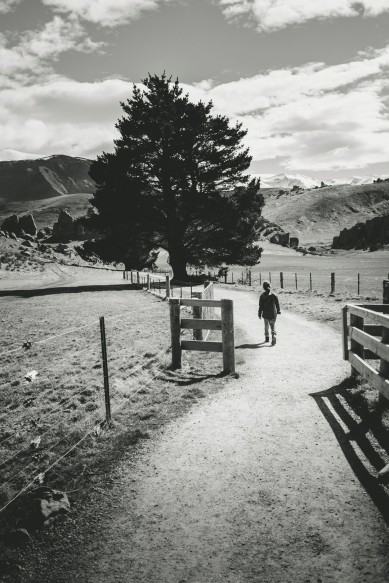 Alexandra walking to Castle Hill