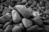 Frozen stones at Lake Tekapo