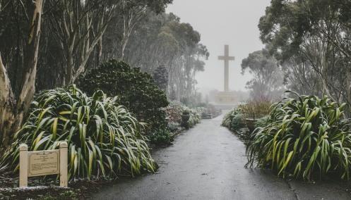 Snowing at Mount Macedon