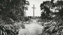 Mount Macedon Memorial Cross in Snow