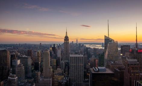 New York City Sunset Purple