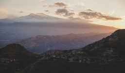 View towards Mt Etna